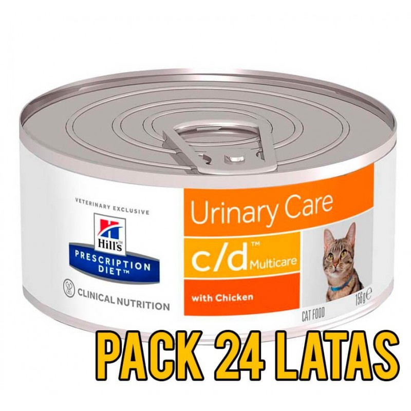 Pack 24 Latas Hills c/d Urinary Care felino