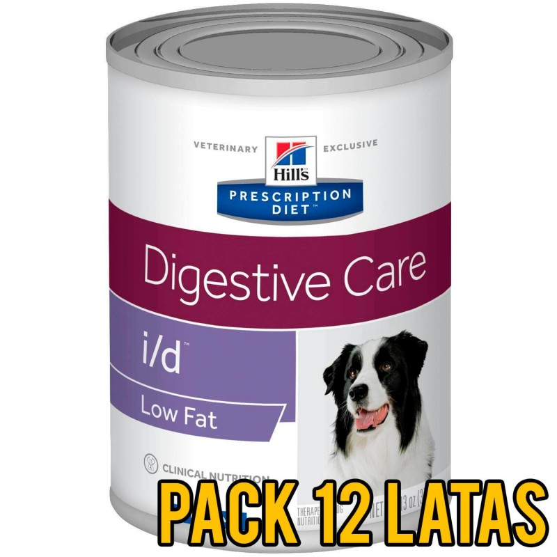 Pack 12 Latas Hills i/d Digestive Low Fat canino
