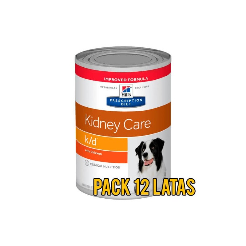 Pack 12 latas Hills k/d Kidney Care canino
