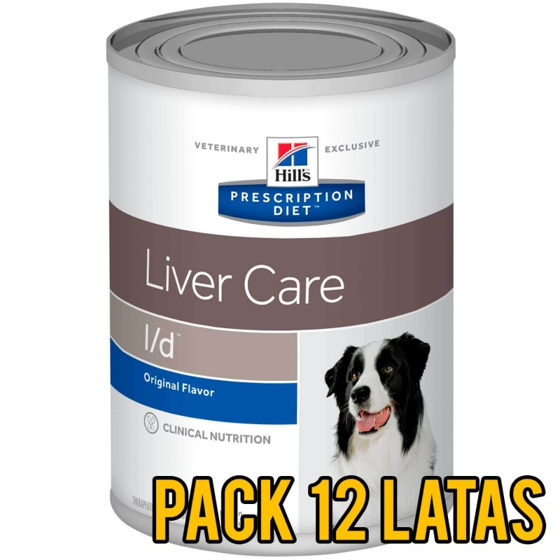 Pack 12 latas Hills l/d Liver Care canino