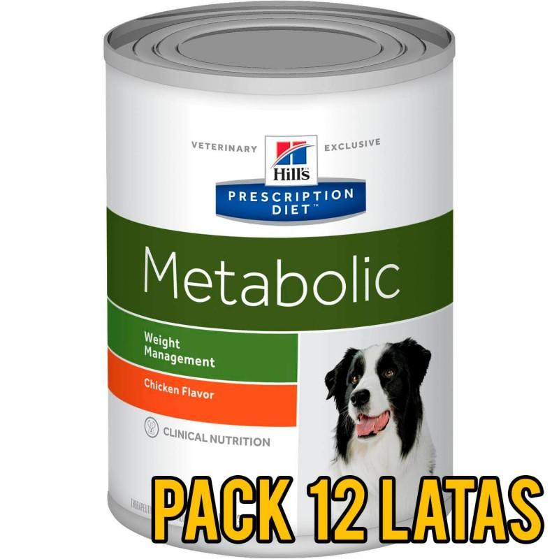 Pack 12 latas Hills Metabolic canino