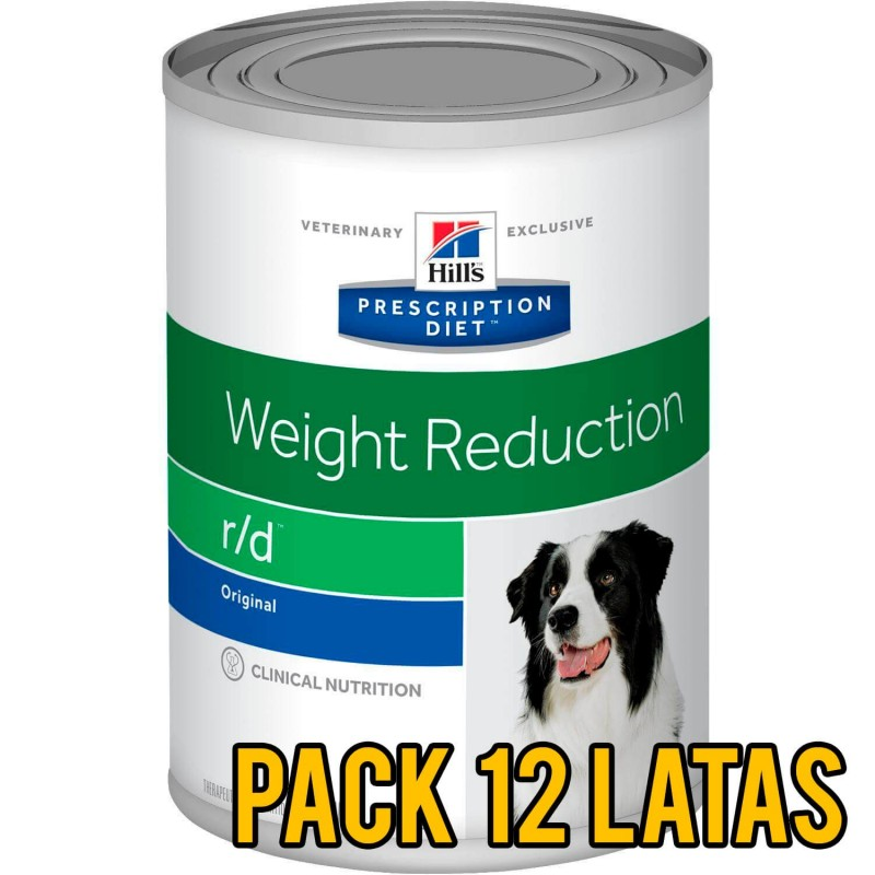 Pack 12 latas Hills r/d Weight Reduction canino