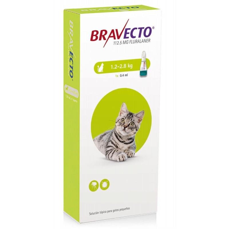 Bravecto Gatos Pipeta 1,2 a 2,8kg