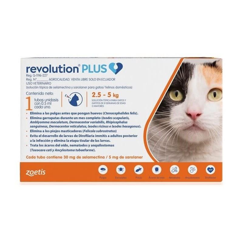 Revolution PLUS Gatos 2,5 a 5kg