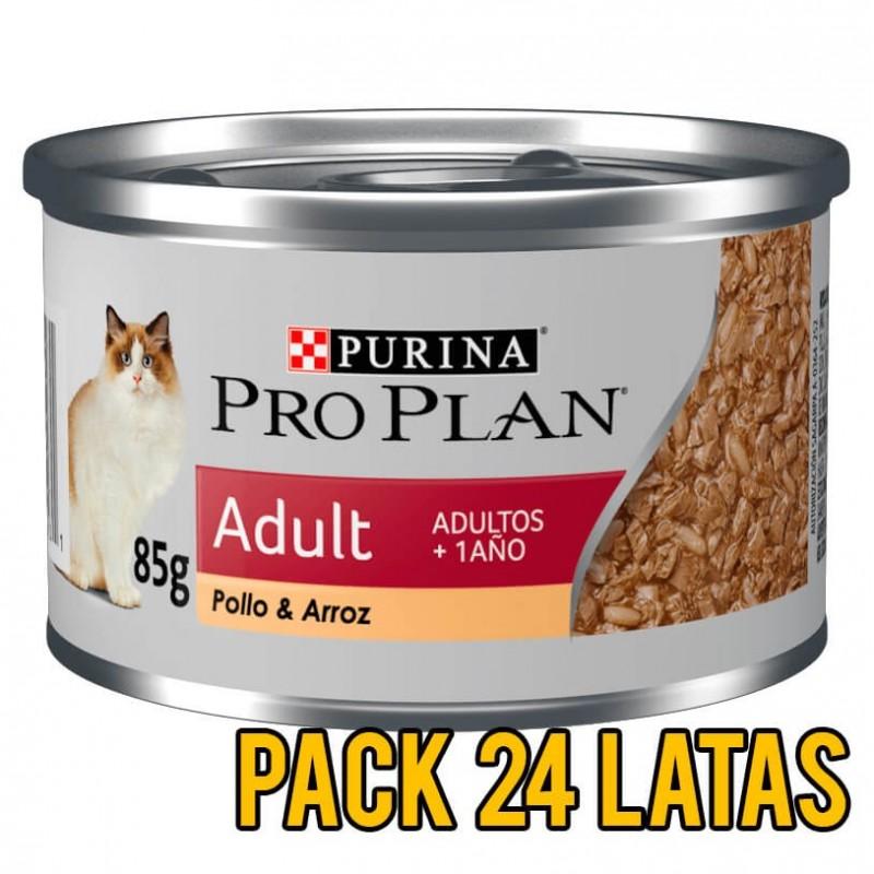 Pack 24 Latas ProPlan Adult Felino