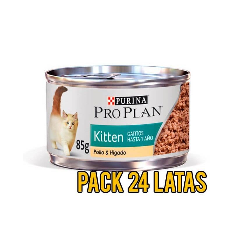 Pack 24 Latas ProPlan Kitten Felino