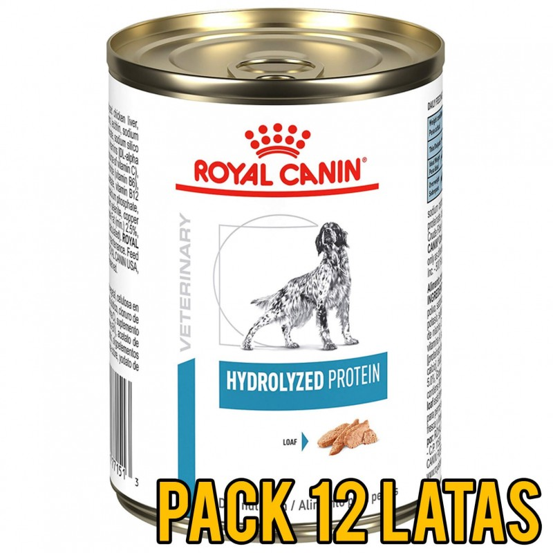 Pack 12 Latas Royal Canin Hydrolyzed Protein Canino