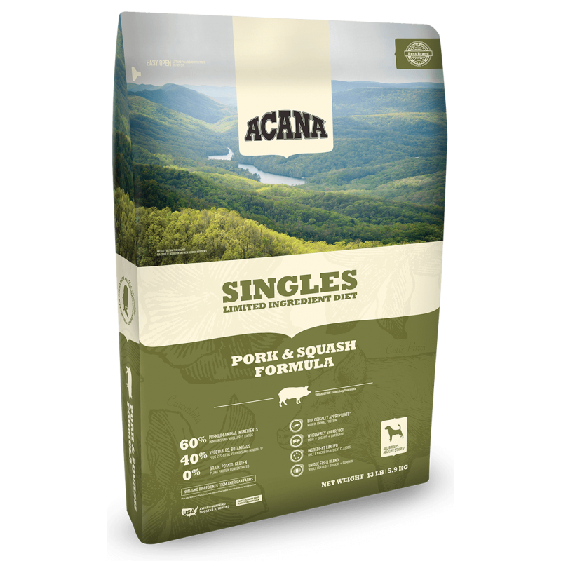 ACANA Singles Pork & Squash 11,35kg