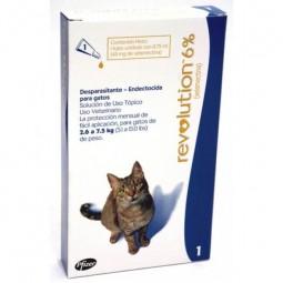 Revolution 6% Gatos de 2,6 a 7,5Kg Antiparasitarios