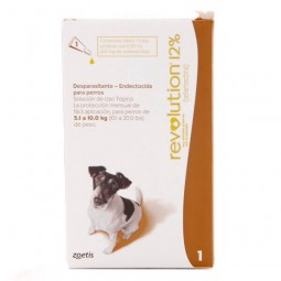 Revolution 12% Perros de 5 a 10Kg Antiparasitarios