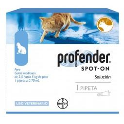 Profender Gatos 2,5 a 5Kg Antiparasitarios