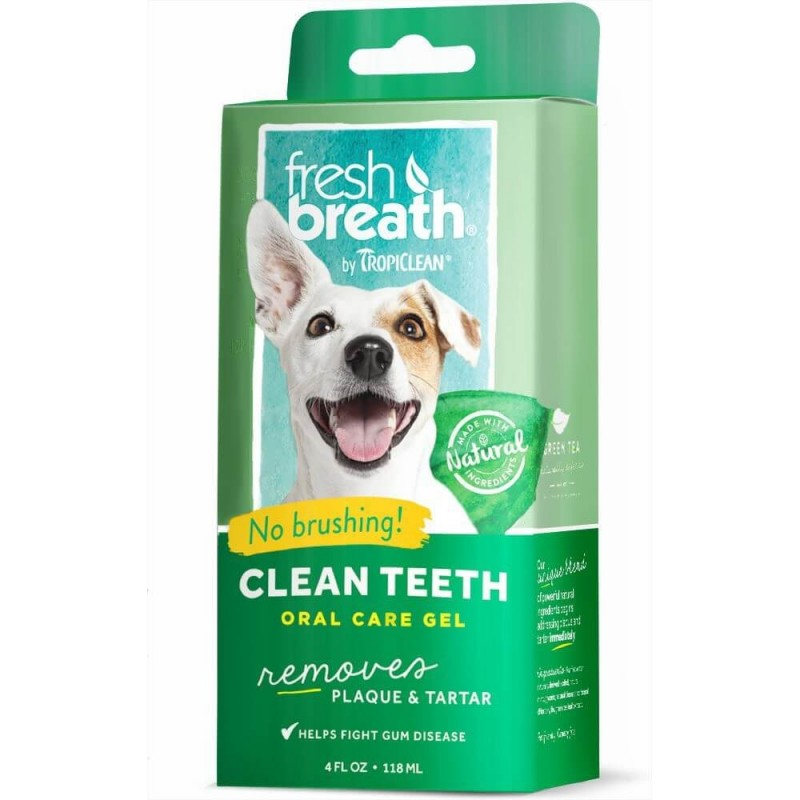 TropiClean Fresh Breath Oral Care Gel Higiene Oral