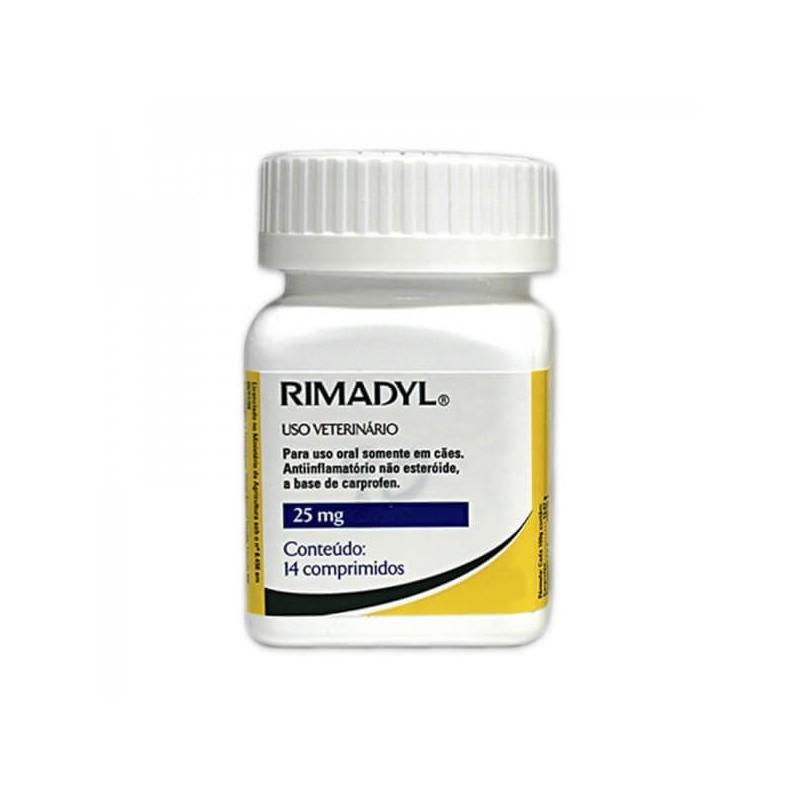 Rimadyl 25mg - 14 Comprimidos Medicamentos