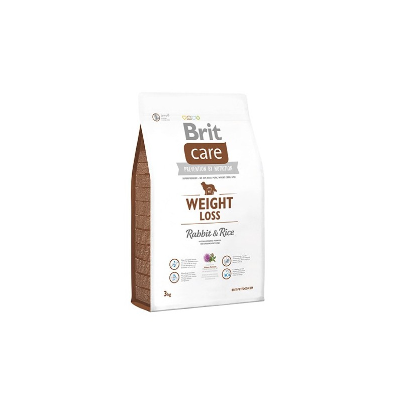 Brit Care Weight Loss Conejo y Arroz 3Kg ALIMENTO PARA PERROS