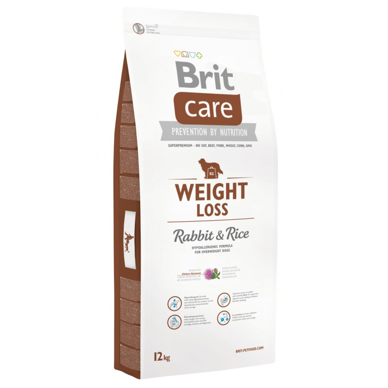 Brit Care Weight Loss Conejo y Arroz 12Kg ALIMENTO PARA PERROS