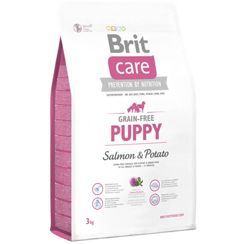 Brit Care Grain Free Puppy Salmon 3Kg