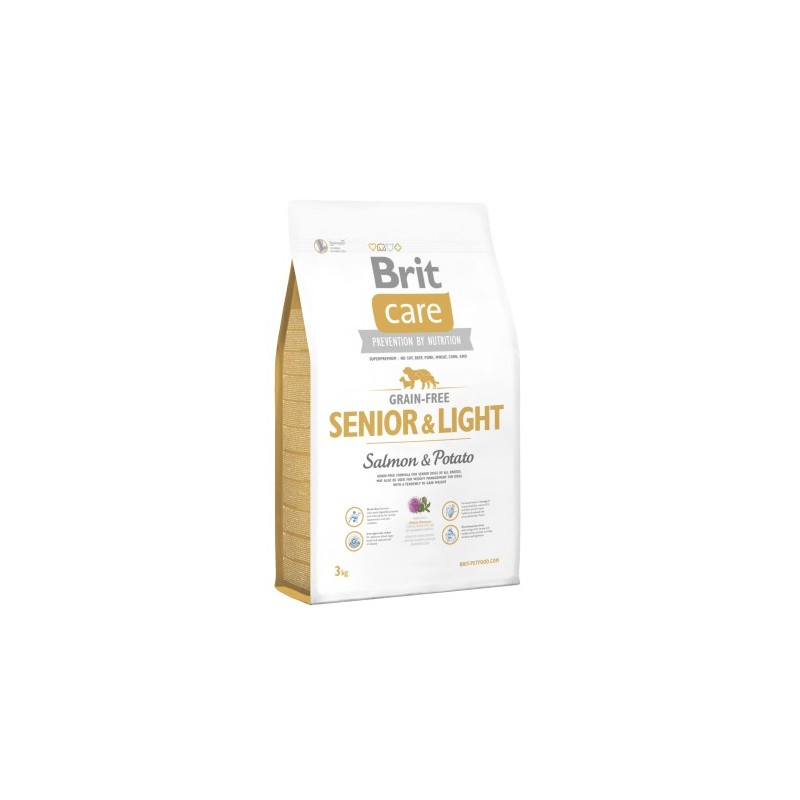 Brit Care Senior & Light Salmon 3Kg ALIMENTO PARA PERROS
