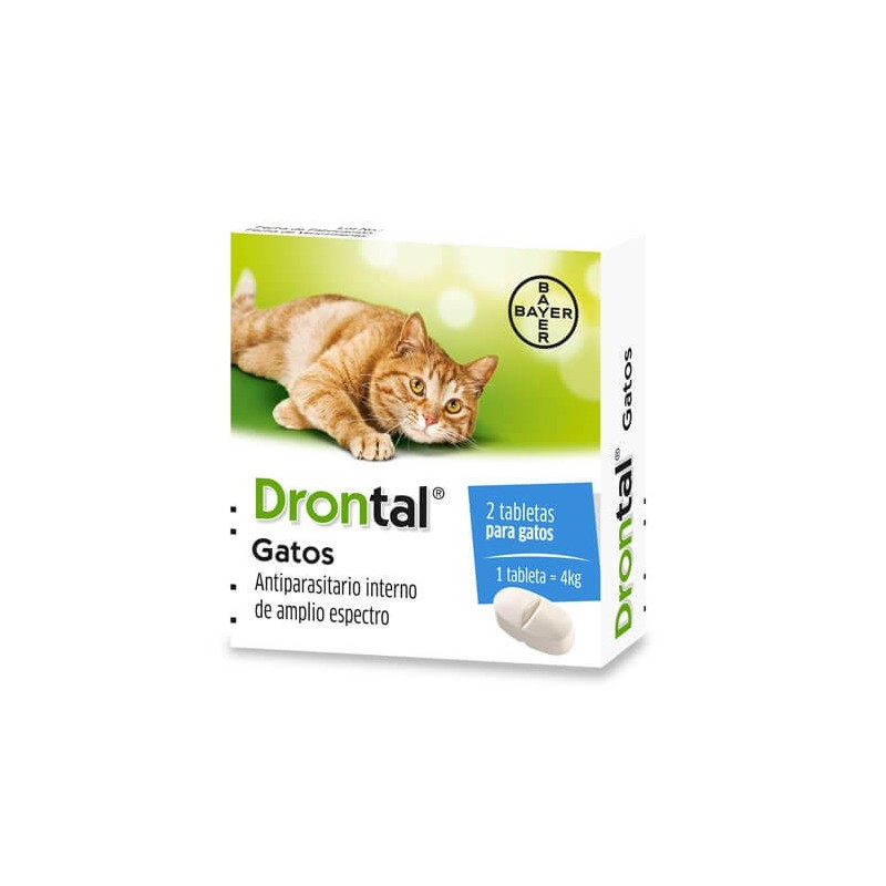 Drontal Cats Gatos (2 comprimidos) Antiparasitarios internos