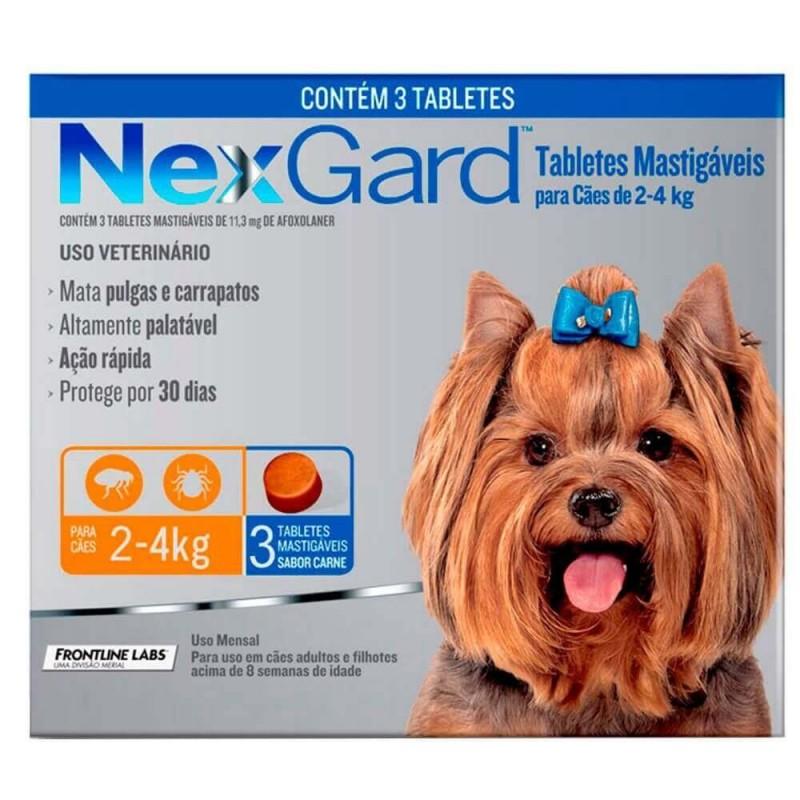 Nexgard 2 a 4kg (3 comprimidos) Antiparasitarios