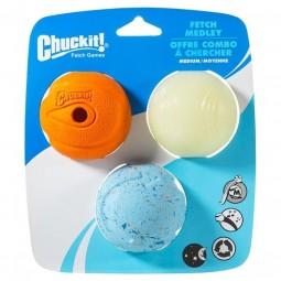 Chuckit Fetch Medley Pack de 3 Pelotas Juguetes