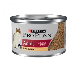 Lata Pro Plan Adult Cat Pollo & Arroz 85g ALIMENTO PARA GATOS