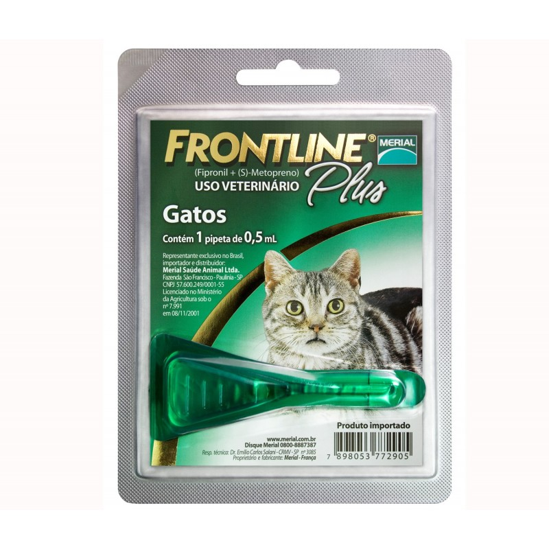 Frontline Plus Gatos Antiparasitarios