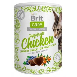 Brit Care Cat Snack Superfruits Chicken 100g Snack y Premios