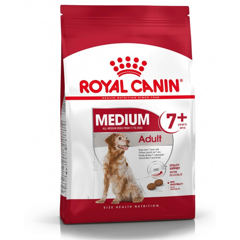 Royal Canin Medium Adulto 7+ 2,5kg ALIMENTO PARA PERROS