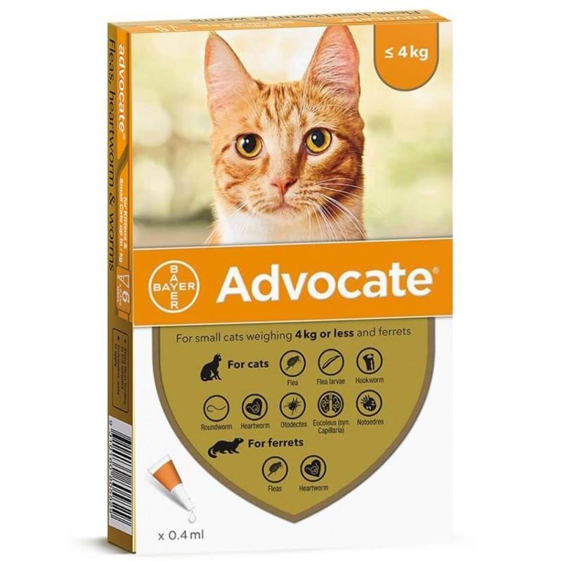 Advocate Gatos hasta 4Kg